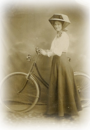Aunt Janet with her bike